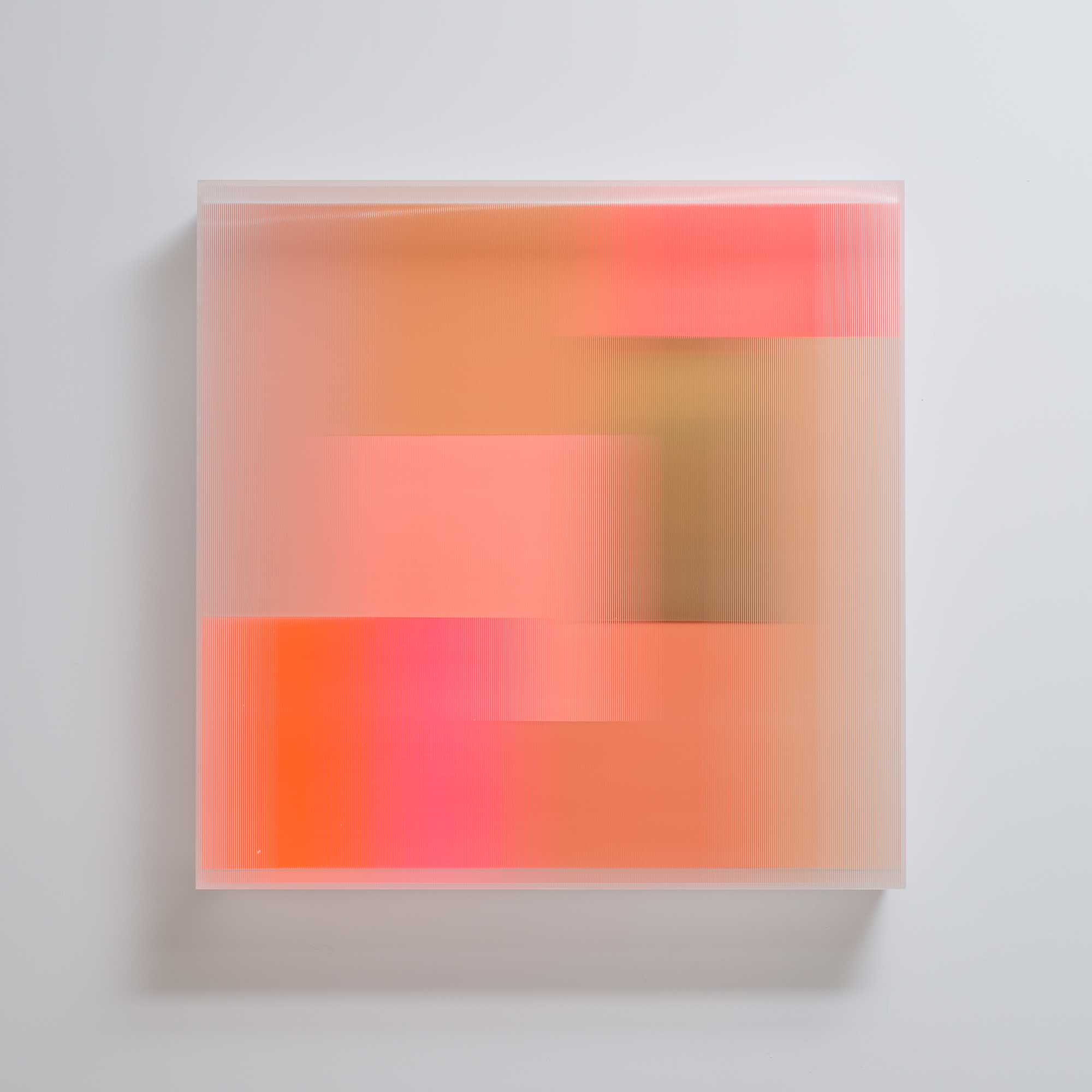 Christiane Grimm Be happy II 60x60x10cm 2019 Mixed media and acrylic glass