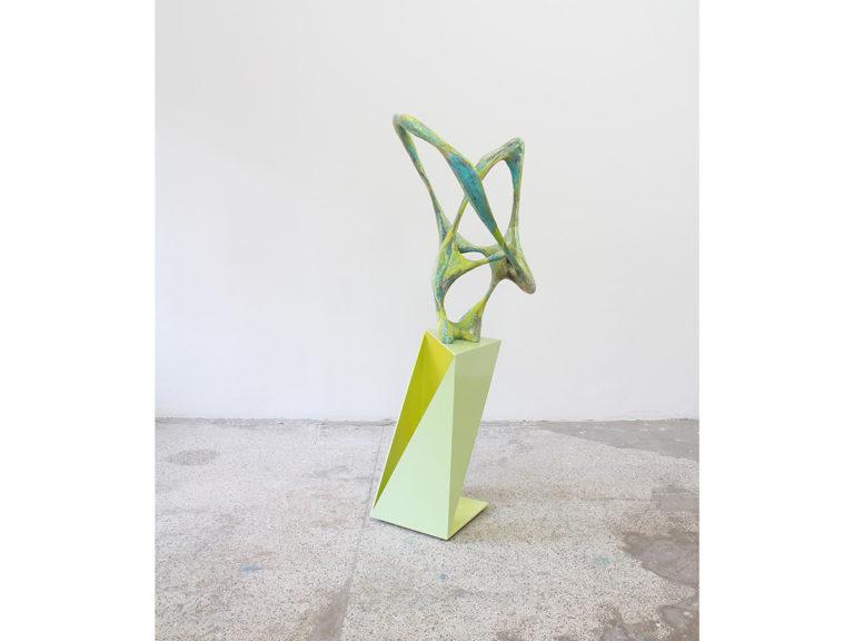 Wolfgang Flad Sculpture'J093010-Ba', appr 187x62x62cm 2015  wood, mdf, papermache, paint, enamel