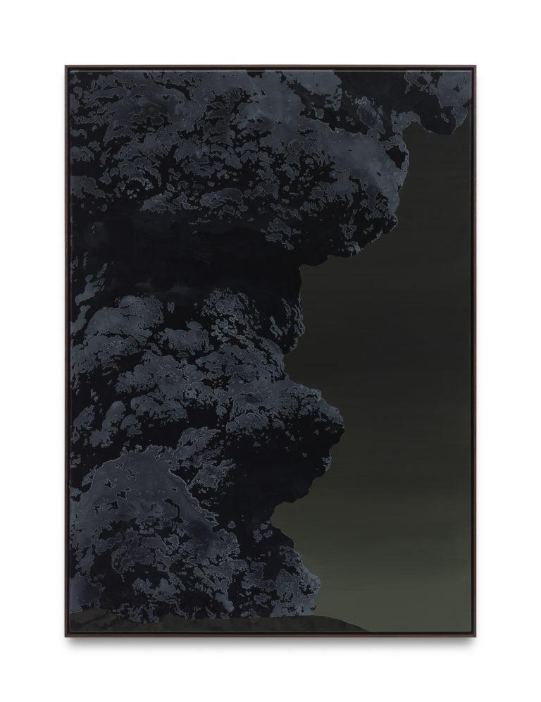 Sven Drühl SDNN(Volcano) 140 x 100 cm 2019 Lacquer on canvas
