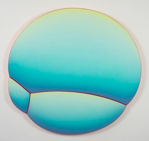 Jan Kaláb Tahiti Bubble 2020 100x104cm  Acrylic on canvas