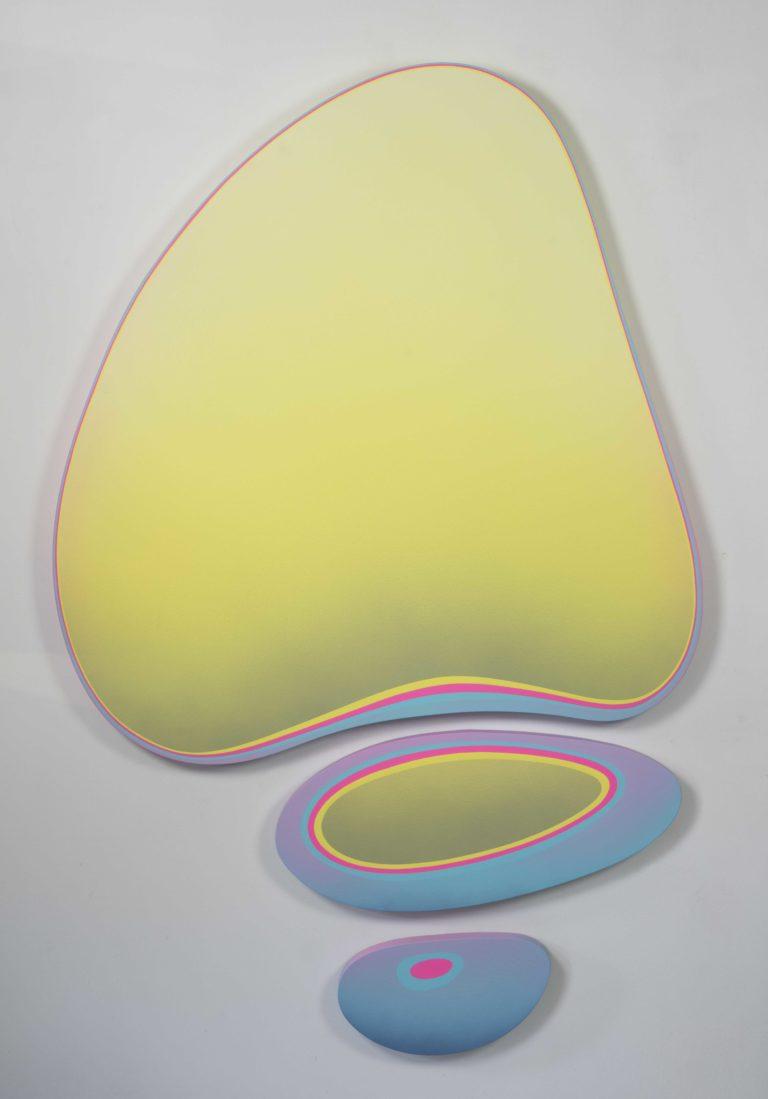 Jan Kaláb Pastel Yellow Meduza 2019 182x114cm  Acrylic on canvas