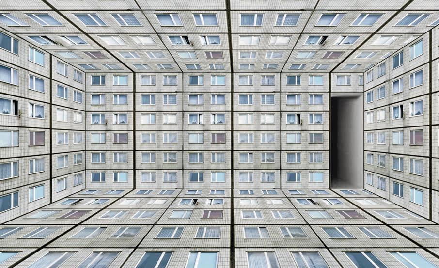 Annett Zinsmeister Virtual Interior UM White XS 21x30x9cm Diapositive in light box, mixed media