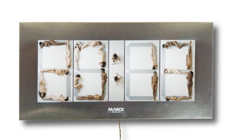 Marck Human clock 2019 86x43x14cm  Mixed media