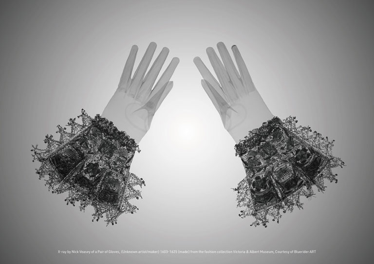 Nick Veasey Gloves 1603-1625 from the fashion collection Victoria & Albert Museum 2017 1189x841mm C-type print