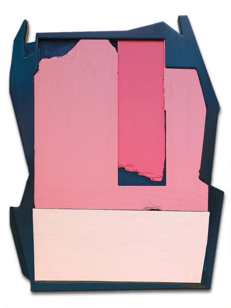 Tim Freiwald Daring Single 90 × 70.3 cm 2020  Chalk, Pigment, Binder, Varnish, Wax, Hard Resin on Wood and Rigid Foam