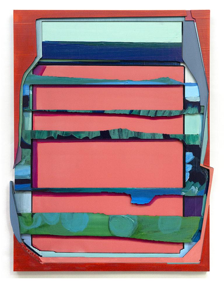 Tim Freiwald Passionate Affair 140 x 110 cm 2020  Chalk, Pigment, Binder, Varnish, Wax, Hard Resin on Wood and Rigid Foam