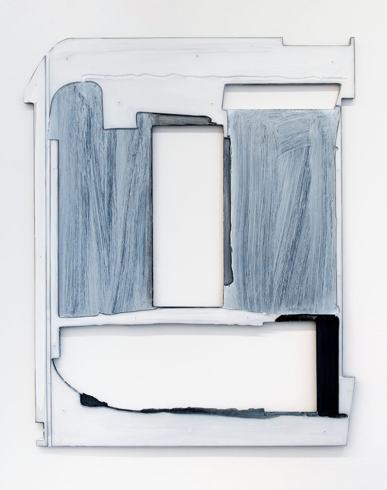 Tim Freiwald Single White 2019 133 x 107.5 cm   Pigment, Binder on Acrylic Glass and Wood
