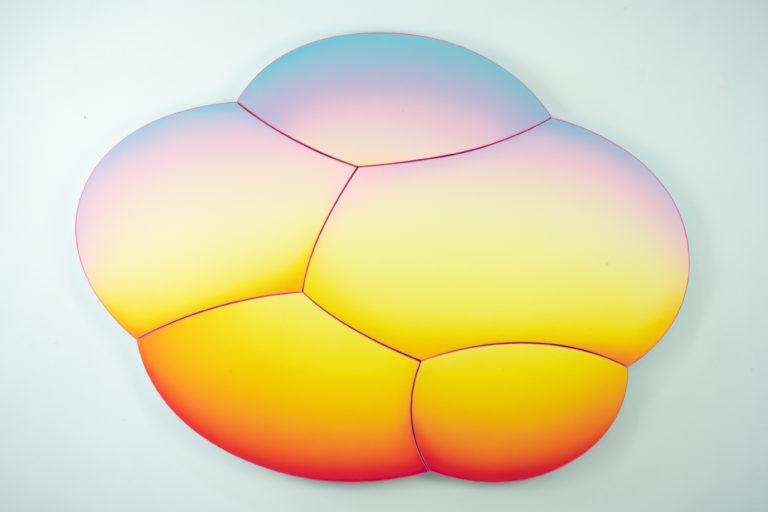 Jan Kaláb Sunset Bubble 821 110x150cm 2021 Acrylic on canvas