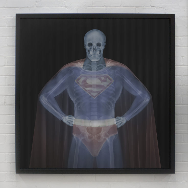 Nick Veasey Clark to Superman in colour 2021 841x841mm Lenticular