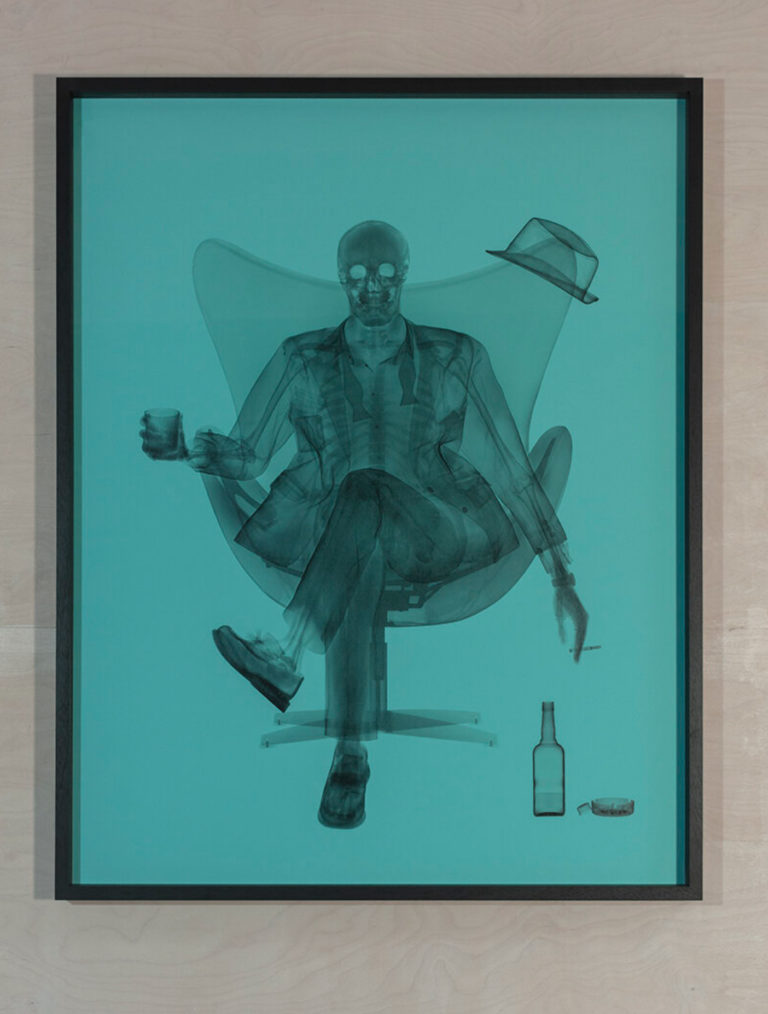 Nick Veasey Baby Blue Rat Pack 2021 101.6x127cm  Print onto colorama, perspex framed