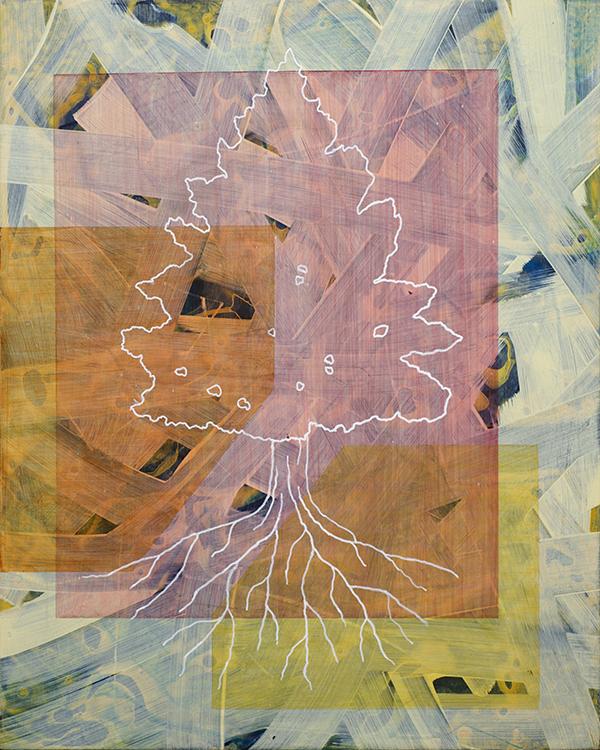 Bryan Ida The Lookout 50.8×40.6cm 2021 Acrylic on panel