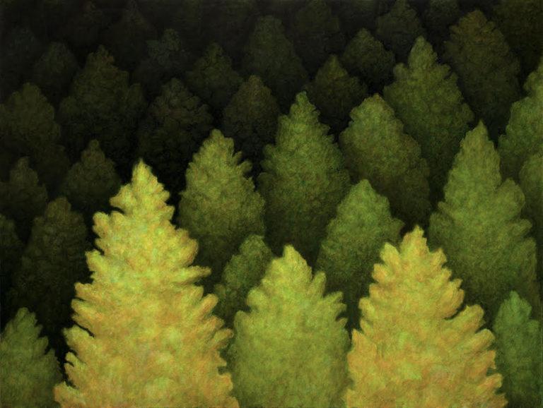 Bryan Ida Lost in a deeper green 91.5x122cm 2021 Acrylic on canvas