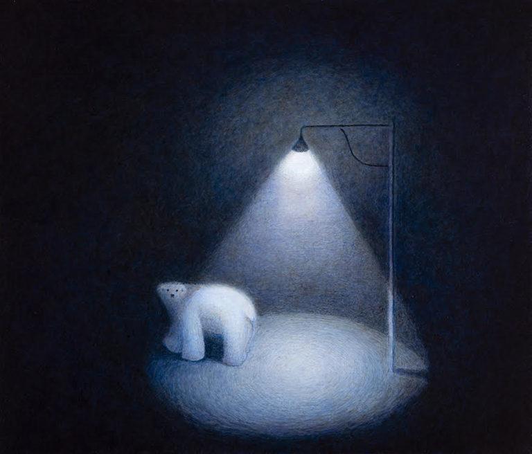 Bryan Ida Polar bear 51×43.5cm 2021 Acrylic on canvas