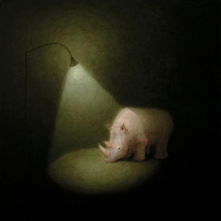 Bryan Ida Rhino 51x51cm 2021 Acrylic on canvas