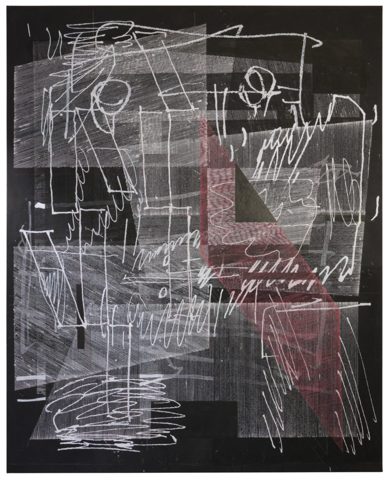 Gregor Eldarb In order to meet you 2021 210x170cm   Arcylic and ink on canvas