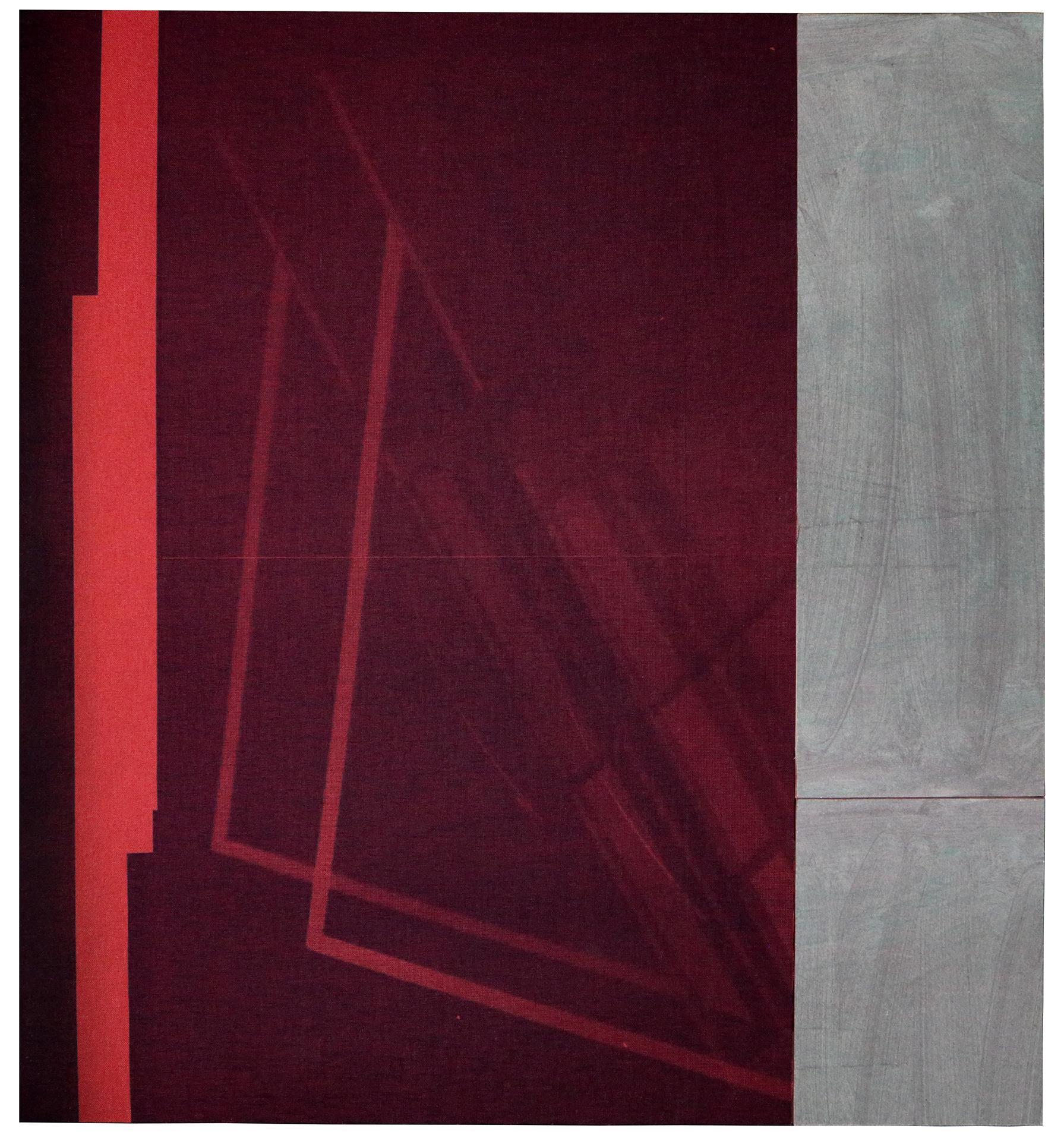 Gregor Eldarb Flip 1 2021 45x40cm Collage, cyanotype on bookbinding linen carboard