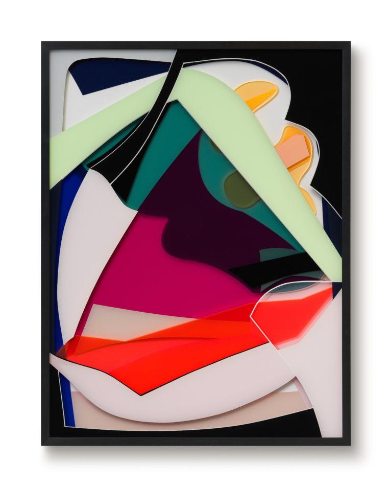 Tanja Rochelmeyer O.T. (0120) 140x105cm 2021 Acrylic Glass, Acrylic Paint