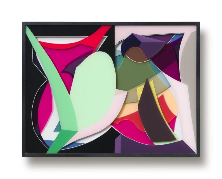 Tanja Rochelmeyer O.T. (0121) 53 x 70 cm 2021   Acrylic glass and acrylic paint