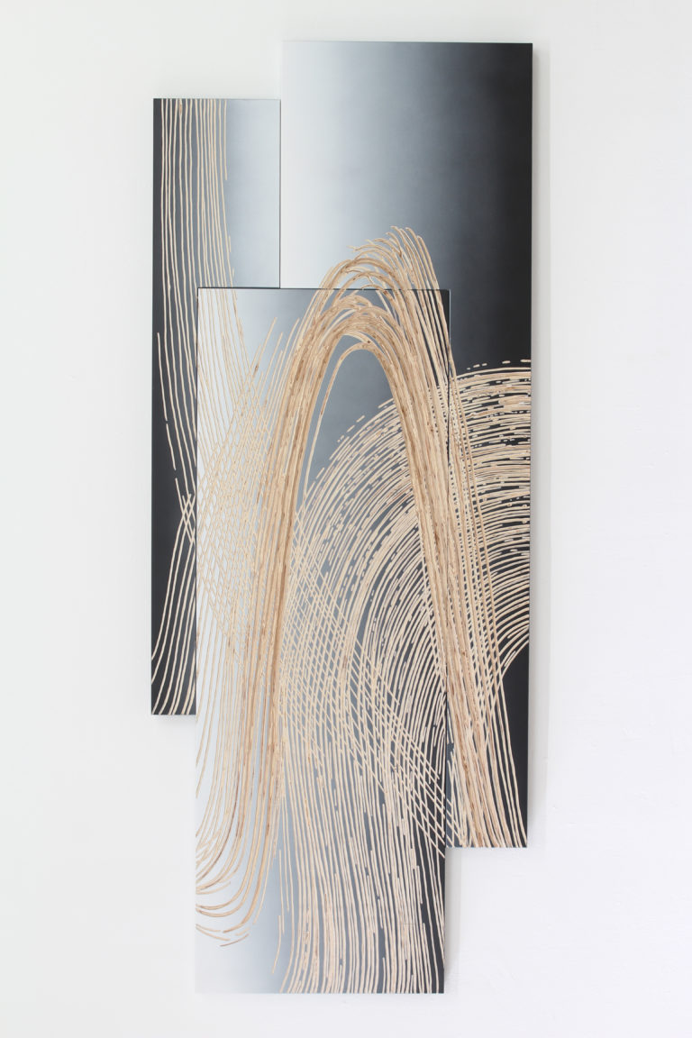 Wolfgang Flad Relief 'Untitled (shift) 189x75cm 2020  plywood, spray paint and carved